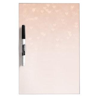 Corazones dispersados Ombre color de rosa Pizarra Blanca