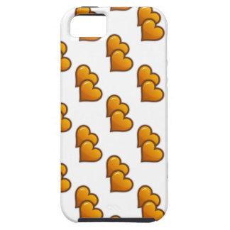 Corazones dobles anaranjados funda para iPhone SE/5/5s
