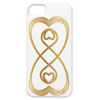 Corazones dobles del infinito en el oro - iPhone iPhone 5 Case-Mate Carcasas