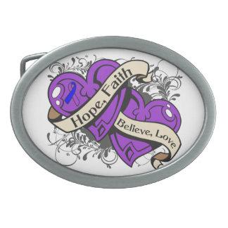 Corazones duales de la fe de la esperanza de la ar hebillas de cinturon ovales