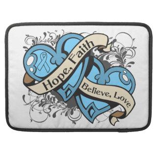 Corazones duales de la fe de la esperanza de la en fundas para macbooks