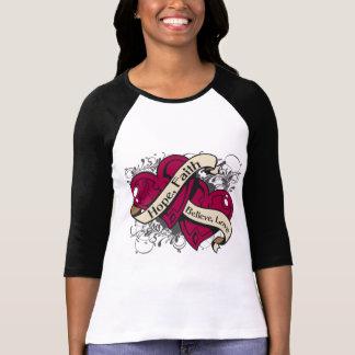 Corazones duales de la fe de la esperanza del camiseta