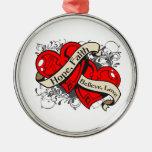 Corazones duales de la fe de la esperanza del VIH  Adorno Para Reyes