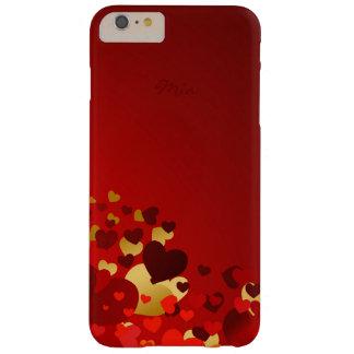 corazones dulces del día de San Valentín con Funda Barely There iPhone 6 Plus