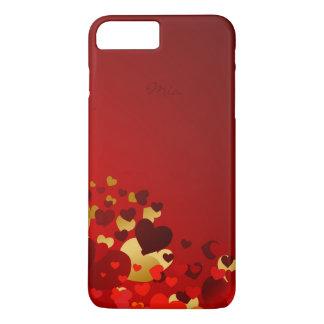 corazones dulces del día de San Valentín con Funda iPhone 7 Plus