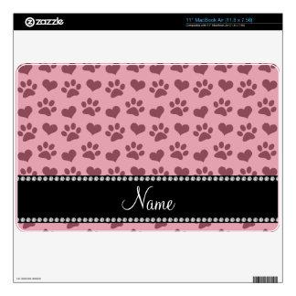 Corazones e impresión rosados bonitos conocidos MacBook air calcomanías