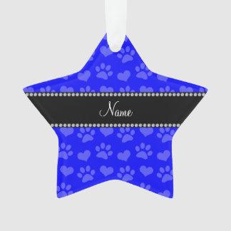 Corazones e impresiones azules de neón conocidos