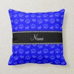 Corazones e impresiones azules de neón conocidos almohada