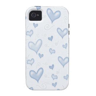 Corazones elegantes apacibles Case-Mate iPhone 4 funda