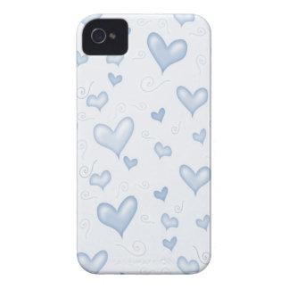 Corazones elegantes apacibles iPhone 4 Case-Mate cárcasas