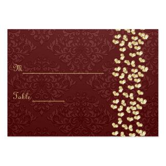 Corazones elegantes del amor del oro del boda y da plantillas de tarjeta de negocio