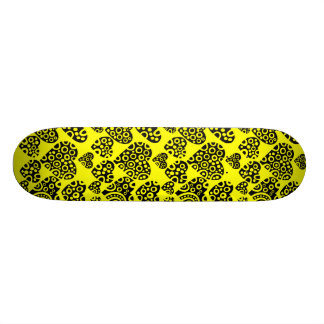 Corazones en amarillo patin personalizado