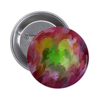 Corazones en armonía Pin-en el botón redondo Pin Redondo De 2 Pulgadas