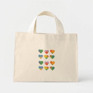 Corazones en colores pastel múltiples bolsas lienzo