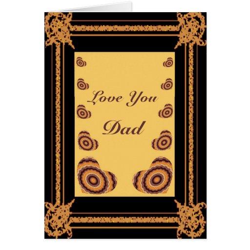 Corazones en el marco - el día de padre tarjeta de felicitación