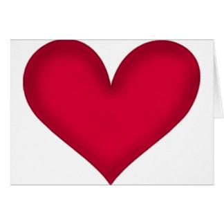 corazones en el papel tarjeta de felicitación