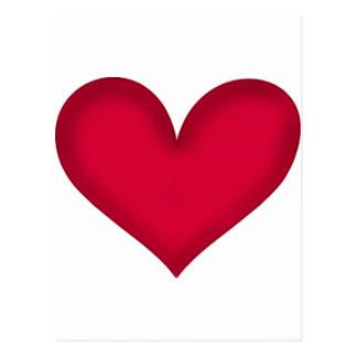 corazones en el papel tarjetas postales