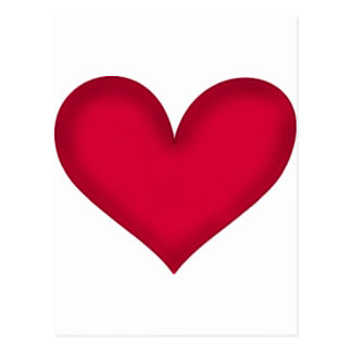 corazones en el papel tarjeta postal