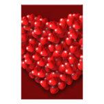 Corazones en forma de corazón papeleria de diseño