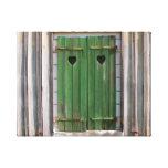 Corazones en los obturadores verdes, Francia Lona Envuelta Para Galerias
