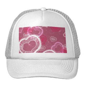 Corazones en rosa gorra