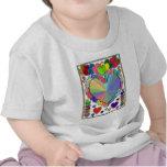 Corazones en un marco camiseta