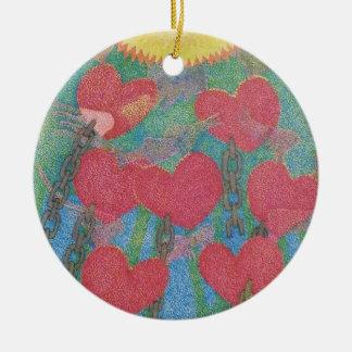 corazones encadenados ornaments para arbol de navidad