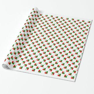 Corazones escandinavos lindos del navidad papel de regalo