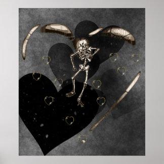 Corazones esqueléticos del amor póster