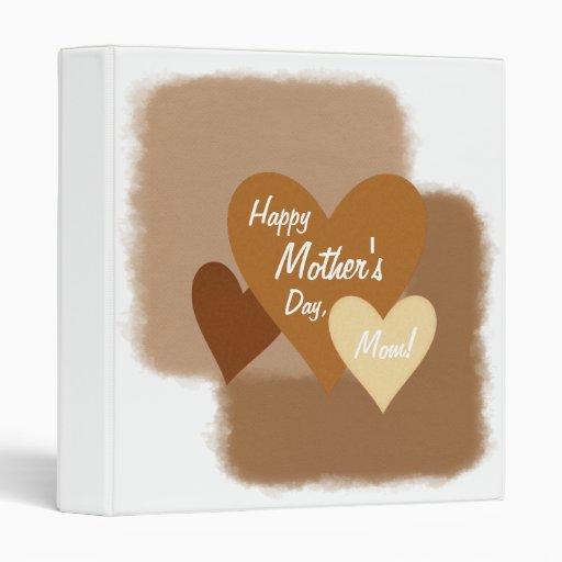 """Corazones felices Brown del día de madre tres Carpeta 1"""""""
