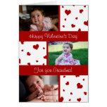 Corazones felices de la tarjeta de la foto de la a