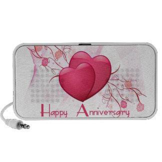 Corazones felices del aniversario iPod altavoces