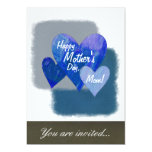 Corazones felices del día de madre tres azules comunicados personales