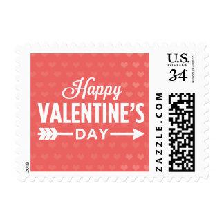 Corazones felices del el día de San Valentín Sellos Postales