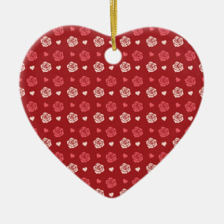 Corazones felices del el día de San Valentín y ros Ornaments Para Arbol De Navidad