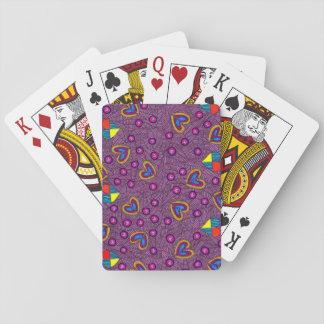 Corazones felices y corazones quebrados baraja de cartas