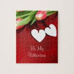 Corazones florales románticos románticos florecien rompecabeza
