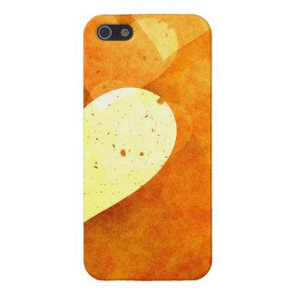 Corazones flotantes anaranjados y amarillos iPhone 5 carcasa