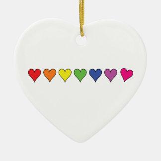 Corazones flotantes del globo - ornamento adorno de cerámica en forma de corazón