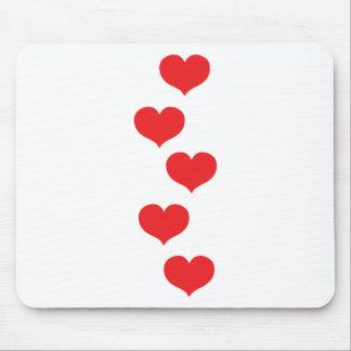 corazones flotantes mouse pad