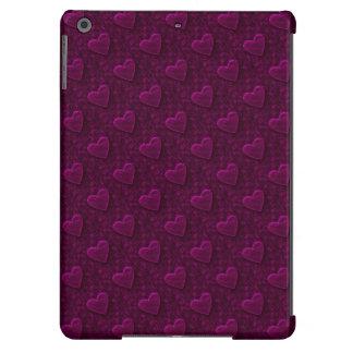 Corazones frustrados, caja Púrpura-iPad del aire