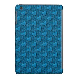 Corazones frustrados, luz - azul - mini caso del fundas de iPad mini retina