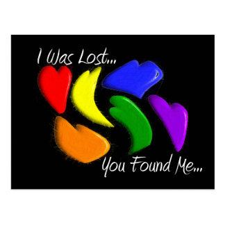 """Corazones gay que """"me perdieron, usted del arco postal"""