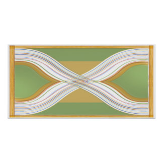 Corazones gemelos - paisaje verde chispeante impresiones