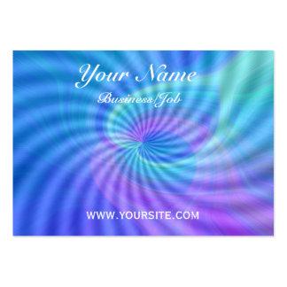 Corazones girados tarjeta de visita