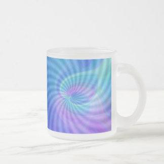 Corazones girados taza de café