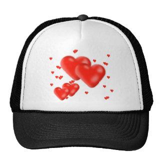corazones gorras