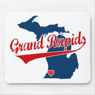 Corazones Grand Rapids Michigan Alfombrillas De Ratón