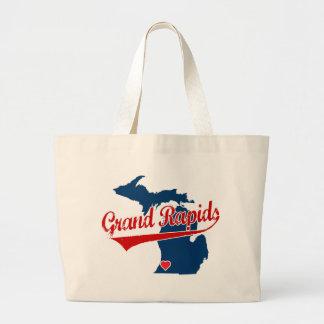 Corazones Grand Rapids Michigan Bolsa Tela Grande