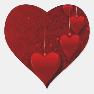 Corazones imaginarios pegatina corazon personalizadas